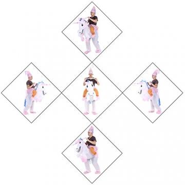 Anself Aufblasbares Kostüm Einhorn Cosplay für Fasching Karneval -