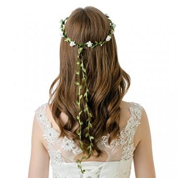AWAYTR Haarband Boheme Geflochten Blumen Haarreif Stirnband HIPPIE (Mixed Farb 9Pcs-A) -
