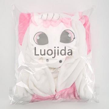 Einhorn Kostüm Pyjamas Tierkostüm Schlafanzug Verkleiden Cosplay Kostüm zum Karneval Fasching, Pink, M: für Höhe 158-167 cm -