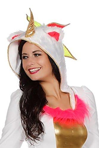 Einhornkostüm Kostüm Einhorn Mini Kleid Kapuze -