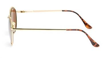 Filtral runde Sonnenbrille | Damen Sonnenbrille aus Metall mit gold verspiegelten Gläsern und Federbügelscharnier F3001107 -