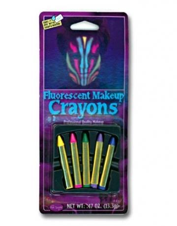 Fluoreszierende UV Schminkstifte 5er Set -