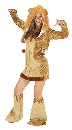 Foxxeo 40212 | sexy Löwen Kostüm für Damen Damenkostüm Karneval Löwe Fasching Party Tier Gr. S-XL, Größe:S -