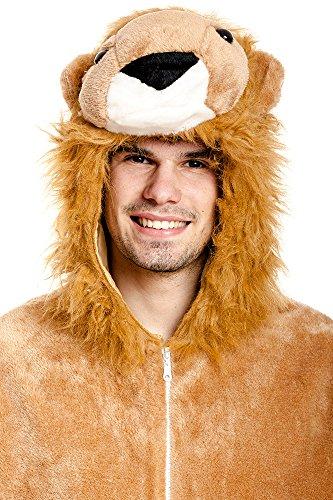 Kostümplanet® Löwen-Kostüm Deluxe Herren mit Tatzen Overall Löwe Größe 52/54 -