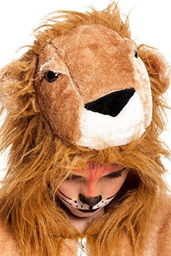 Kostümplanet® Löwen-Kostüm Kinder-Kostüm Löwe Junge + Mädchen Klein-Kind Karneval Größe 104 -