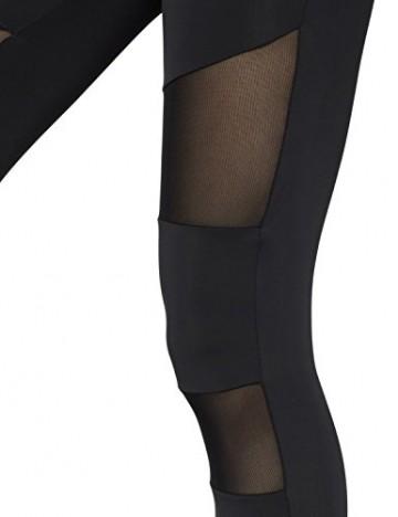 Ladies Tech Mesh Sport Leggings Yoga Pants schwarz M -
