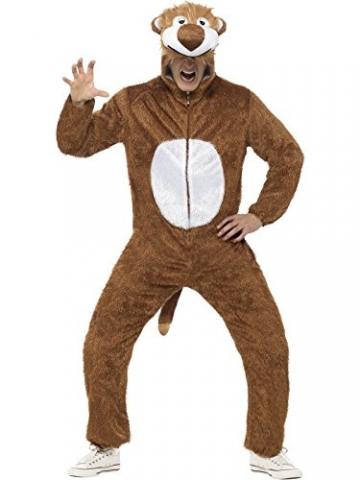 Löwe Kostüm enthält Jumpsuit mit Kapuze, Large -