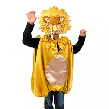 Luxus Löwen Kostüm mit Maske für Kinder 3-8 Jahre – Karneval Löwe Kostüm Kinder – Slimy Toad -