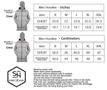 Men's Hoodie – Street Art Psychodelisches Grafikdesign – Feindruck Sweatshirt – Schwarz – Large -