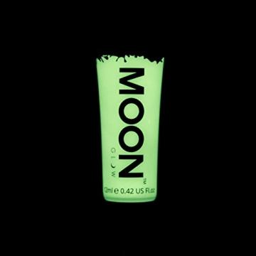 Moon Glow – Leuchten im Dunkeln – Face & Body Paint – 12ml Unsichtbar – fluoreszierend – für den Leuchteffekt aufladen -