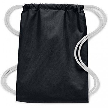 Nike Herren Heritage Turnbeutel, Black/White, 43 x 32 x 1 cm -