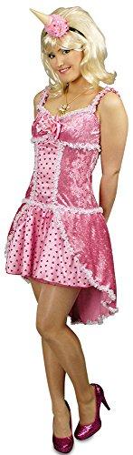 Rosa Candy Girl Kostüm für Damen Gr. 36 38 – Süßes Kleid für Einhorn, Candy oder Prinzessin Kostüm zu Karneval oder Mottoparty -