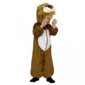 Smiffys Kinder Unisex Löwen Kostüm, Jumpsuit mit Kapuze, Größe: M (7 – 9 Jahre), 30012 -