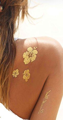 Tattoo Party Körper Make-up Temporäre Tattoos, Beauty in a flash.: 10 Boards Metallic Tattoos Gold, Silber. Flash Tattoo. über 100 verschiedene Tätowierungen, 10 Boards -