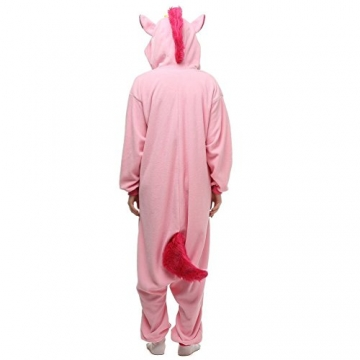 Unicsex Süß Einhorn Overall Pyjama Jumpsuit Kostüme Schlafanzug Für Kinder / Erwachsene (L, Rosa) -