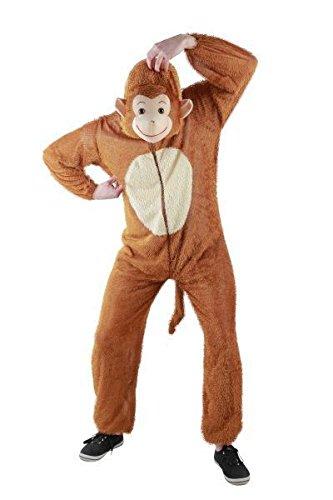 Foxxeo 10005   Affen Kostüm für Damen und Herren, Tierkostüm   Gr. S, M, L, XL, XXL,XXXL, XXXXL, Größe:XL, Tiere:Affe -
