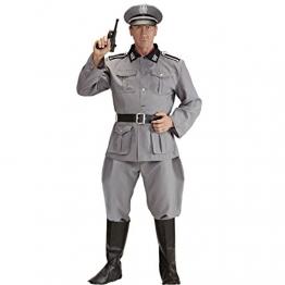Herrenkostüm Deutscher Soldat WW2 Soldaten Kostüm L 52 Historisches Soldatenkostüm Offizier Militär Uniform General 2. Weltkrieg Verkleidung Armee Outfit Männer - 1