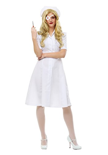Kill Bill Elle Driver Nurse Womens Fancy dress costume Small - 1