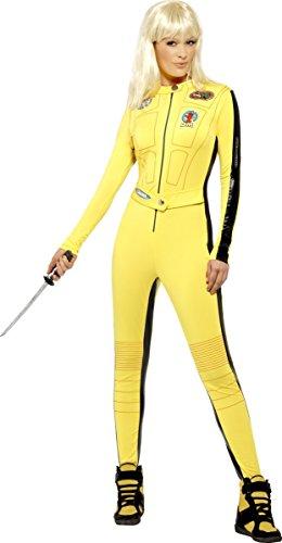 KULTFAKTOR GmbH Kill Bill Jumpsuit Damenkostüm Lizenzware gelb-schwarz M - 1