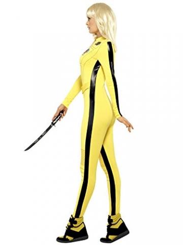 KULTFAKTOR GmbH Kill Bill Jumpsuit Damenkostüm Lizenzware gelb-schwarz M - 2