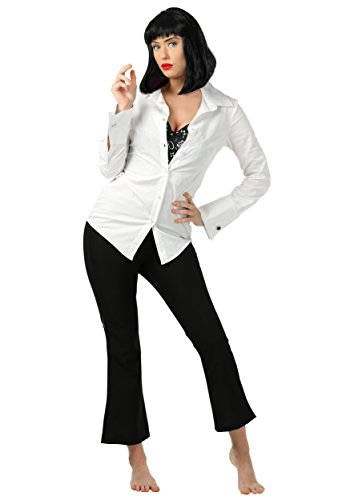 Pulp Fiction Mia Wallace Fancy Dress Costume X-Small - 1