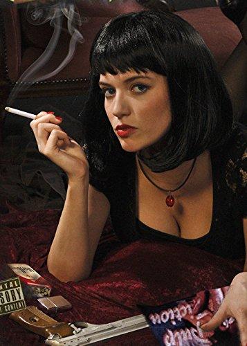 Pulp Fiction Style Schwarz Mia Perücke - 1