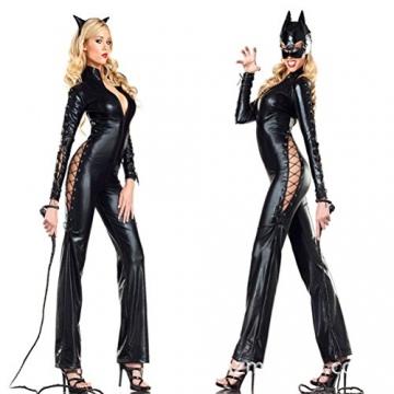 Tinksky Kostüme Peitsche Leder Bullwhip Torero Bull Peitsche für Halloween Party Favor 1.6m (Schwarz) - 3