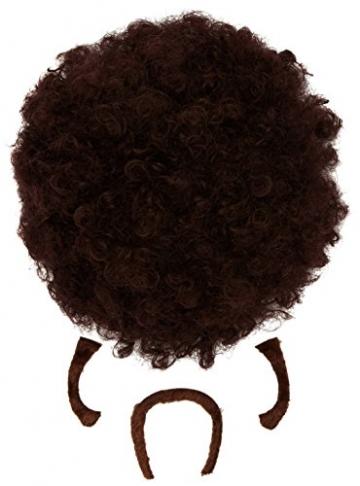 Widmann 01841 - Perücke Pulp Afro braun - 1