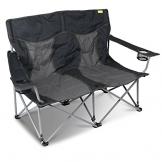 #11 Campingstuhl für 2 Personen mit Getränkehalter einfach zusammenfaltbar • Klappstuhl Faltstuhl Gartenstuhl Stuhl Klappsessel Outdoor Camping - 1