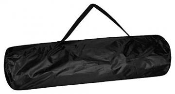 1PLUS 2er Partner Campingstuhl, klappbar, mit Sonnenschirm und Kühlfach - Doppelsitzer Anglerstuhl für 2 Personen (schwarz) - 7