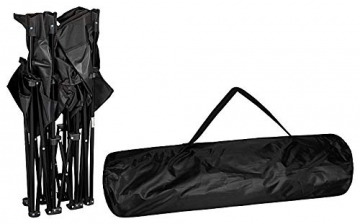1PLUS 2er Partner Campingstuhl, klappbar, mit Sonnenschirm und Kühlfach - Doppelsitzer Anglerstuhl für 2 Personen (schwarz) - 9