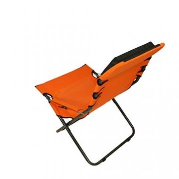 Fridani Campingstuhl RCO 100 Klappstuhl Orange + Kopfpolster bequemer XXL Gartenstuhl Sonnenliege - 5