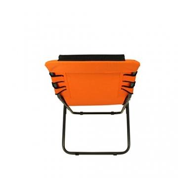 Fridani Campingstuhl RCO 100 Klappstuhl Orange + Kopfpolster bequemer XXL Gartenstuhl Sonnenliege - 6
