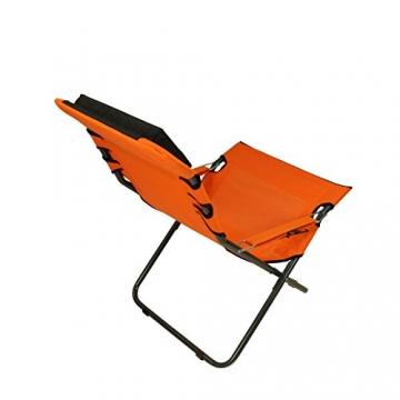 Fridani Campingstuhl RCO 100 Klappstuhl Orange + Kopfpolster bequemer XXL Gartenstuhl Sonnenliege - 7