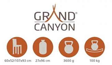 Grand Canyon Giga - bequemer Campingstuhl, mit abnehmbarer Fußablage, faltbar, stabiles Aluminiumgestell, 3-fach verstellbare Rückenlehne, für Camping, Festival, Garten, grau, 308019 - 2