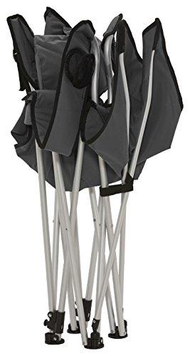 Grand Canyon Giga - bequemer Campingstuhl, mit abnehmbarer Fußablage, faltbar, stabiles Aluminiumgestell, 3-fach verstellbare Rückenlehne, für Camping, Festival, Garten, grau, 308019 - 6