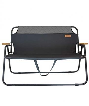 hdg Klappbank Campingbank Gartenbank James tragbar klappbar 2 Sitzer Campingstuhl - 2
