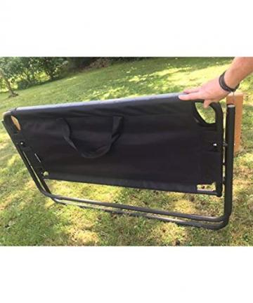 hdg Klappbank Campingbank Gartenbank James tragbar klappbar 2 Sitzer Campingstuhl - 4