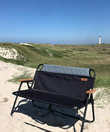 hdg Klappbank Campingbank Gartenbank James tragbar klappbar 2 Sitzer Campingstuhl - 5