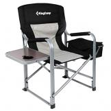 KingCamp Campingstuhl Regiestuhl mit Seitentisch und Kühltasche - 1