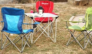KingCamp Ultraleicht Campingstuhl Angelstuhl mit Netz Getränkehalter - 2
