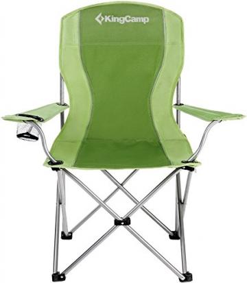 KingCamp Ultraleicht Campingstuhl Angelstuhl mit Netz Getränkehalter - 3