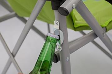 Meerweh Erwachsene Faltstuhl Deluxe XXL mit Getränkehalter und Flaschenöffner Relaxstuhl Campingstuhl Anglerstuhl, gr&uumln - 10