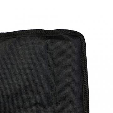 Nexos Angelstuhl Anglerstuhl Faltstuhl Campingstuhl Klappstuhl mit Armlehne und Getränkehalter praktisch robust leicht schwarz - 6