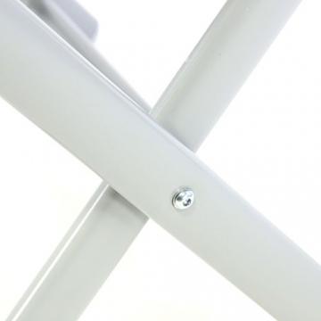 Nexos ZGC34465 Klapphocker Sitzhocker Campinghocker Fußteil aus Aluminium und Textilene schwarz pulverbeschichtet Rahmen Hellgrau Sitzhöhe 42 cm für Balkon Terrasse, - 5