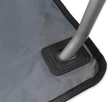 normani 2-Sitzer Campingstuhl Doppelklappstuhl Campingsofa bis 250 Kg inkl. Tragebeutel und Getränkhalter Farbe Grey - 2