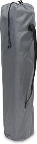 normani 2-Sitzer Campingstuhl Doppelklappstuhl Campingsofa bis 250 Kg inkl. Tragebeutel und Getränkhalter Farbe Grey - 3