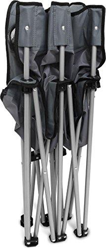 normani 2-Sitzer Campingstuhl Doppelklappstuhl Campingsofa bis 250 Kg inkl. Tragebeutel und Getränkhalter Farbe Grey - 4