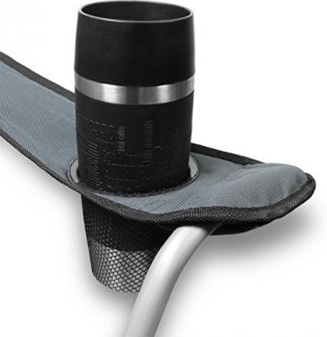 normani 2-Sitzer Campingstuhl Doppelklappstuhl Campingsofa bis 250 Kg inkl. Tragebeutel und Getränkhalter Farbe Grey - 5
