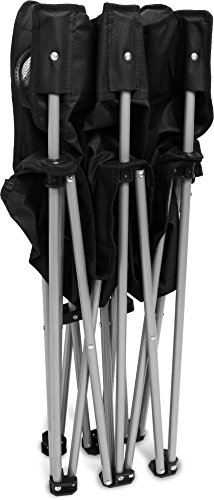 normani 2-Sitzer Campingstuhl Doppelklappstuhl Campingsofa bis 250 Kg inkl. Tragebeutel und Getränkhalter Farbe Schwarz - 4